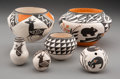 American Indian Art:Pottery, Six Acoma Pottery Items ... (Total: 7 )