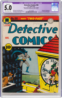 Detective Comics #66 (DC, 1942) CGC Apparent VG/FN 5.0 Tan to off-white pages