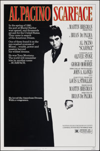 """Scarface (Universal, 1983). Rolled, Very Fine. One Sheet (27"""" X 41""""). Mike Bryan Artwork. Crime"""