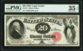 Large Size:Legal Tender Notes, Fr. 147 $20 1880 Legal Tender PMG Choice Very Fine 35 EPQ....