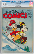 Golden Age (1938-1955):Cartoon Character, Walt Disney's Comics and Stories #41 (Dell, 1944) CGC NM- 9.2 Cream to off-white pages....