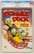 Golden Age (1938-1955):Cartoon Character, Four Color #62 Donald Duck (Dell, 1945) CGC VF+ 8.5 Off-white pages....