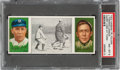 Baseball Cards:Singles (Pre-1930), 1912 T202 Hassan Harry Lord At Third - Lennox/Tinker PSA NM-MT 8 - Pop Two, None Higher. ...