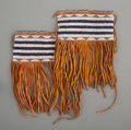 American Indian Art:Beadwork and Quillwork, A Pair of Cheyenne Beaded Hide Hair Wraps...