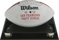 Football Collectibles:Balls, 1988 San Francisco 49ers Super Bowl Champion Team Signed Football. The 49ers of San Francisco were just getting into the gr...