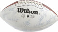 Football Collectibles:Balls, 1988 New York Jets Team Signed Football. The 1989 New York Jets were a struggling team, and after narrowly missing the post...