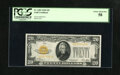 Small Size:Gold Certificates, Fr. 2402 $20 1928 Gold Certificate. PCGS Choice About New 58.. A corner tip fold is noticed on this $20 that has nice color....