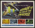 "Movie Posters:Science Fiction, Voyage to the End of the Universe (AIP, 1964). Half Sheet (22"" X28"") Science Fiction. Starring Zdenek Stepánek, Radovan Luk..."