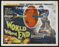 "Movie Posters:Science Fiction, World Without End (Allied Artists, 1956). Half Sheet (22"" X 28"")Style B. Science Fiction. Starring Hugh Marlowe, Nancy Gate..."