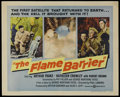 "Movie Posters:Adventure, The Flame Barrier (United Artists, 1958). Half Sheet (22"" X 28"").Adventure. Starring Arthur Franz, Vincent Padula, Rodd Red..."