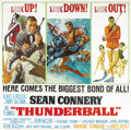 "Movie Posters:James Bond, Thunderball (United Artists, 1965). Six Sheet (84"" X 84""). SeanConnery, the consummate 007, is at it again doing battle wit..."
