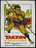 "Movie Posters:Adventure, Tarzan and the Jungle Boy (Paramount, 1968). French Grande (45"" X62""). Action Adventure. Starring Mike Henry, Rafer Johnson..."