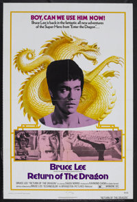 "Return of the Dragon (Monogram, 1974). One Sheet (27"" X 41""). Martial Arts Action. Starring Bruce Lee, Nora Mi..."