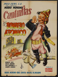 """El Bombero Atomico (Clasa-Mohme Inc., 1952). Mexican Poster (26.5"""" X 36""""). Comedy/Drama. Starring Cantinflas..."""