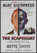"Movie Posters:Mystery, The Scapegoat (MGM, 1959). One Sheet (27"" X 41""). Mystery. StarringAlec Guinness, Bette Davis, Nicole Maurey and Irene Wort..."