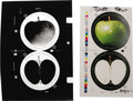 Music Memorabilia:Original Art, Apple Records Logo Separations. Two complete sets of color logoseparations for 1992 Apple re-issues, one each for LPs and 4...