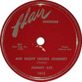 """Music Memorabilia:Recordings, Johnny Ace 78 Group of 2 (1953-55). Two vintage 78 releases by thetragic icon: """"Mid Night Hours Journey""""/ """"Trouble and Me"""" ..."""