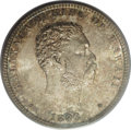 Coins of Hawaii: , 1883 25C Hawaii Quarter MS66 PCGS. Both sides of this Hawaiiquarter are awash in blazing luster, and are visited with whis...