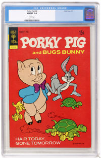 Porky Pig #46 (Gold Key, 1973) CGC NM/MT 9.8 White pages. Overstreet 2004 NM- 9.2 value = $14. CGC census 2/05: 2 in 9.8...