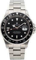 Timepieces:Wristwatch, Rolex, GMT-Master II Ref. 16710, Oyster Perpetual, Stainless Steel, Circa 1999. ...