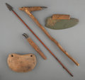American Indian Art:Pipes, Tools, and Weapons, Five Eskimo Implements ... (Total: 5 )