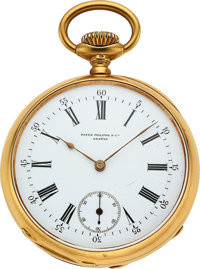 Patek Philippe & Co. 18k Gold Gondolo For Braga Pinto & Cia, circa 1890