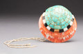 American Indian Art:Jewelry and Silverwork, A Santo Domingo Inlaid Shell Pendant...
