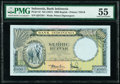 Indonesia Bank Indonesia 1000 Rupiah ND (1957) Pick 53 PMG About Uncirculated 55