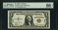 Small Size:World War II Emergency Notes, Fr. 2300 $1 1935A Hawaii Silver Certificate. PMG Gem Uncirculated 66 EPQ.. ...