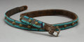 American Indian Art:Beadwork and Quillwork, A Crow Beaded Leather Belt...