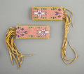 American Indian Art:Beadwork and Quillwork, A Pair of Sioux Beaded Hide Armbands...