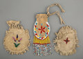 American Indian Art:Beadwork and Quillwork, Three Plains Beaded Hide Pouches... (Total: 3 )