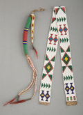 American Indian Art:Beadwork and Quillwork, Two Great Lakes / Plains Items... (Total: 2 )