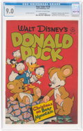 Golden Age (1938-1955):Cartoon Character, Four Color #178 Donald Duck (Dell, 1947) CGC VF/NM 9.0 Off-white to white pages....