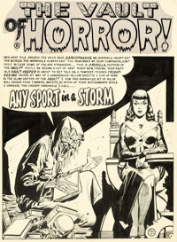 "Johnny Craig Vault of Horror #38 Complete 8-Page Story ""Any Sport In A Storm"" Drusilla Original Art (EC, 1954)..."
