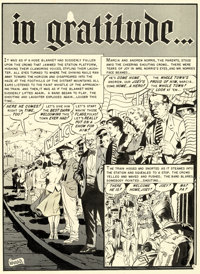 "Wally Wood Shock SuspenStories #11 Complete 7-Page Story ""in gratitude..."" Original Art (EC, 1953).... (Total:..."