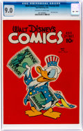 Golden Age (1938-1955):Cartoon Character, Walt Disney's Comics and Stories #20 (Dell, 1942) CGC VF/NM 9.0 Off-white to white pages....