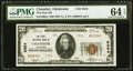 National Bank Notes:Oklahoma, Chandler, OK - $20 1929 Ty. 2 The First National Bank Ch. # 5354 PMG Choice Uncirculated 64 EPQ.. ...