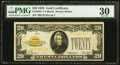Small Size:Gold Certificates, Fr. 2402* $20 1928 Gold Certificate Star. PMG Very Fine 30.. ...