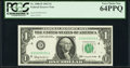 Fancy Serial Number 00055555 Fr. 1900-D $1 1963 Federal Reserve Note. PCGS Very Choice New 64PPQ