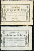 France Republique Francaise 10,000 Francs ND (1795) Pick A82 Three Examples Very Fine. ... (Total: 3)
