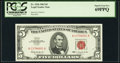 Small Size:Legal Tender Notes, Fr. 1536 $5 1963 Legal Tender Note. PCGS Superb Gem New 69PPQ.. ...