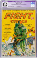 Fight Comics #12 (Fiction House, 1941) CGC Apparent VF 8.0 Slight (A-1) Off-white to white pages