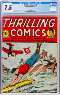 Thrilling Comics #18 (Better Publications, 1941) CGC VF- 7.5 Off-white pages