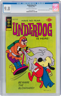 Underdog #12 (Gold Key, 1977) CGC NM/MT 9.8 Off-white to white pages