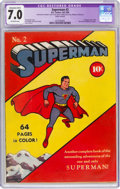 Golden Age (1938-1955):Superhero, Superman #2 (DC, 1939) CGC Apparent FN/VF 7.0 Extensive (B-5) Off-white pages....