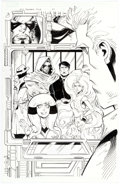 Original Comic Art:Splash Pages, Cory Hamscher Marvel Adventures Fantastic Four #27 Splash Page 1 Original Art (Marvel, 2007)....