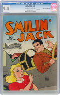 Golden Age (1938-1955):Adventure, Four Color #58 Smilin' Jack - Mile High Pedigree (Dell, 1944) CGC NM 9.4 Off-white to white pages....