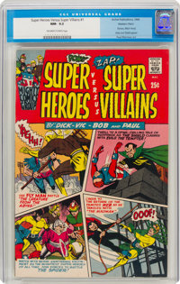 Super Heroes Versus Super Villains #1 Western Penn Pedigree (Archie, 1966) CGC NM- 9.2 Off-white to white pages