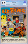 Golden Age (1938-1955):Western, Red Ryder Comics #8 (Dell, 1942) CGC VF+ 8.5 Off-white pages....